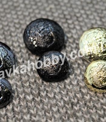 Пуговицы металлизированные 100560