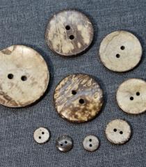 Пуговицы деревянные кокосовые 200576