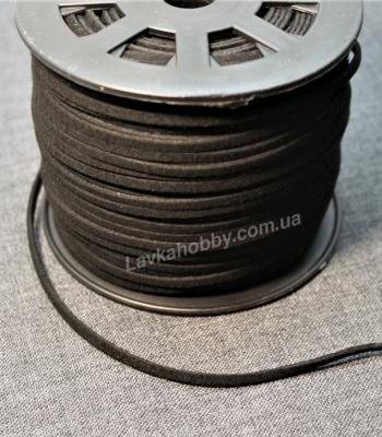 Шнур замшевый 340001 черный