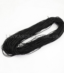 Шнур имитация кожи 340020, черный